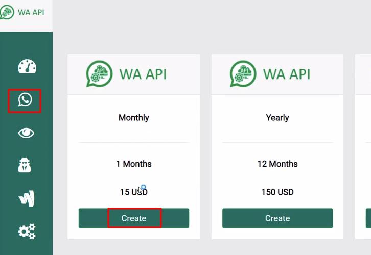 Create Instance WA API