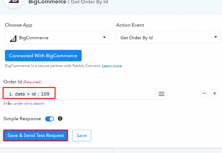 Map the Order ID BigCommerce
