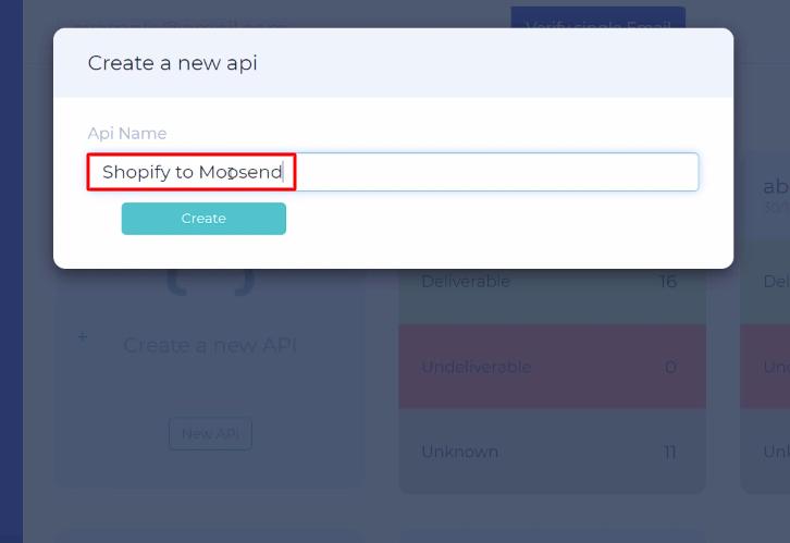 Name the API