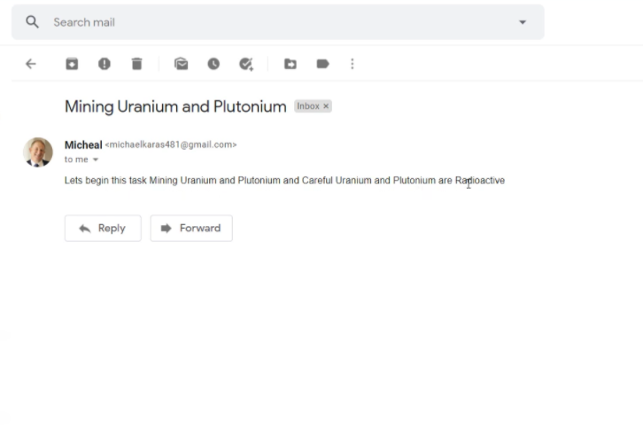 Check Response in Gmail Dashboard