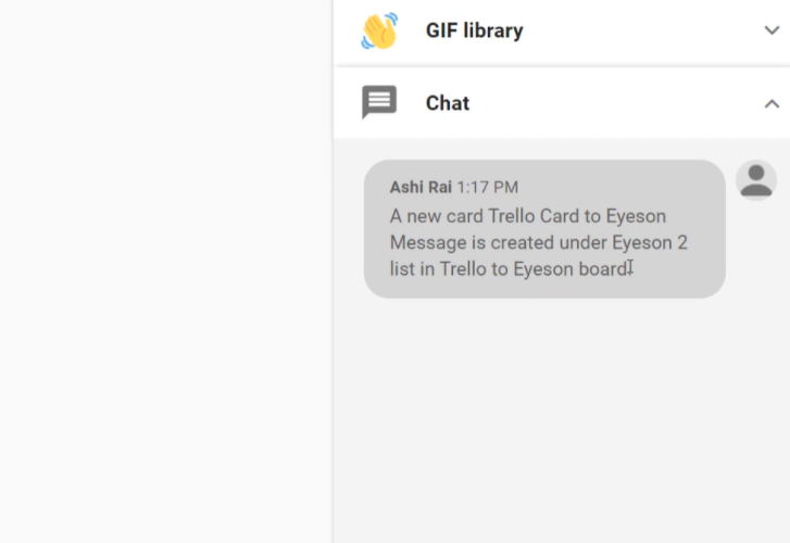 Check Response in Eyeson Dashboard