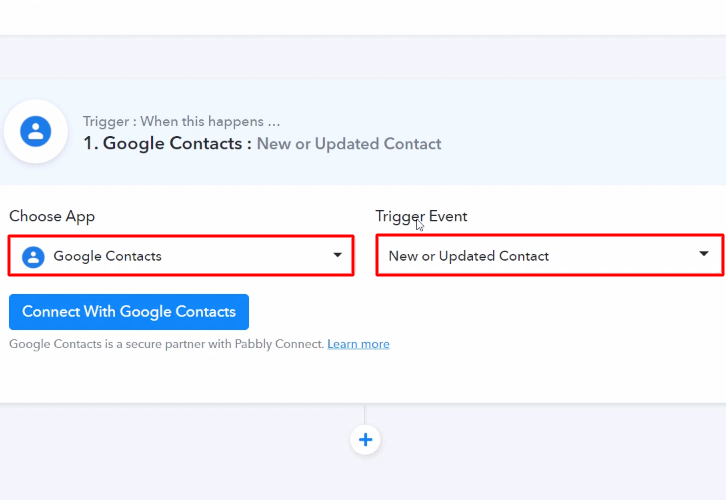 Select Google Contacts