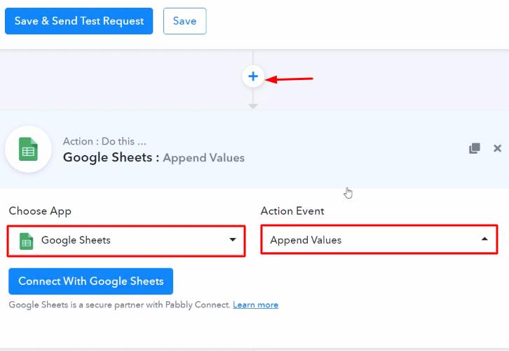 Select Google Sheets