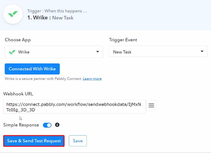 Send Test Request Wrike