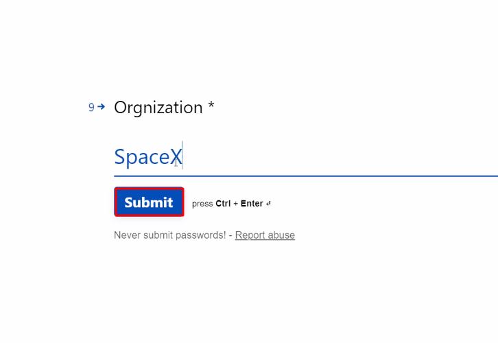 Submit Form Typeform