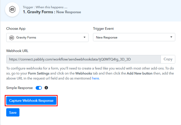 Capture Webhook Response for Gravity Forms to Salesforce Integration