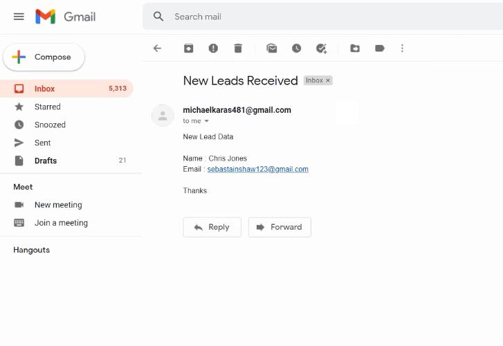 Check Response Gmail