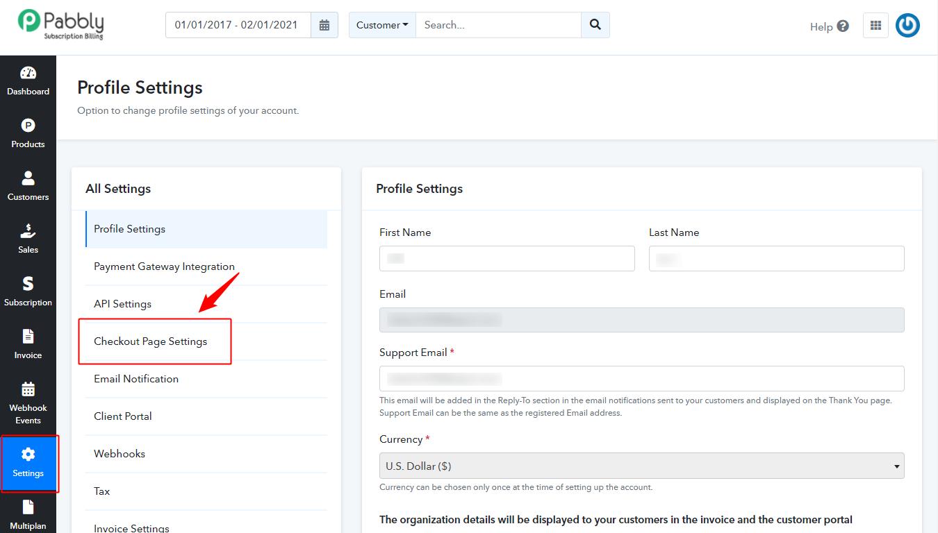checkout_page_settings