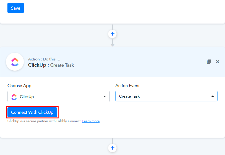 Connect with ClickUp for Cognito Forms to ClickUp Integration