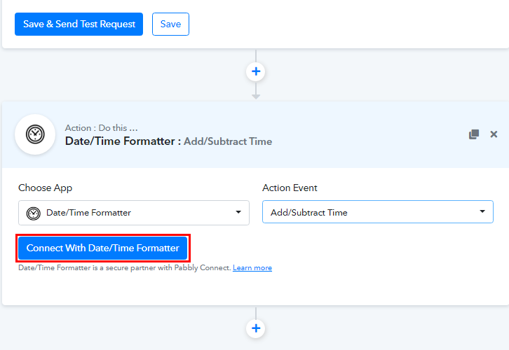 Connect with Date/Time Formatter