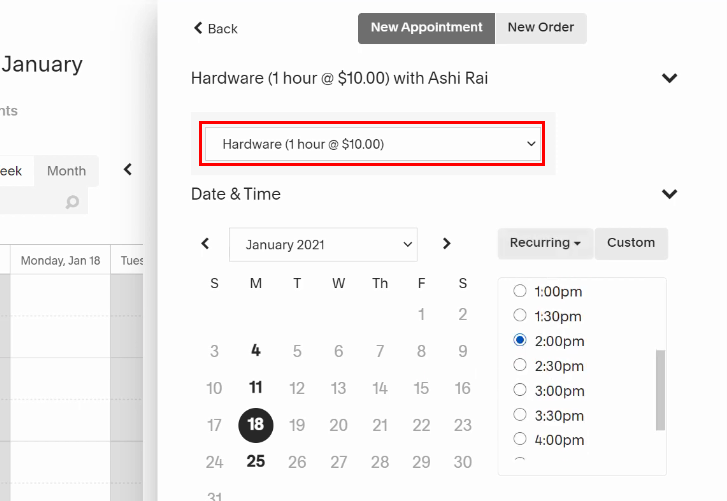 Create New Appointment for Acuity Scheduling to ClickUp Integration