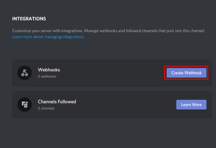 Create Webhook Discord for Google Sheets to Discord Integration
