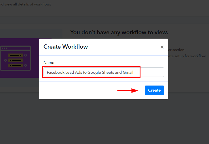 Facebook Lead Ads to Google Sheets and Gmail