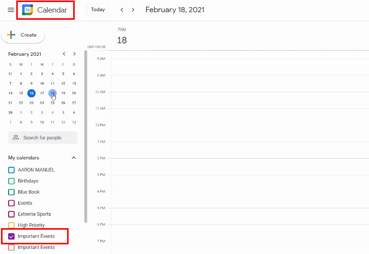 Go to Google Calendar