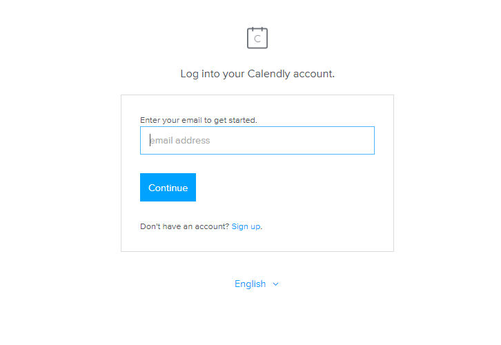 Login to Calendly for Calendly to ClickUp Integration