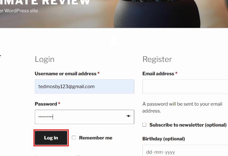 Login to Customer Account