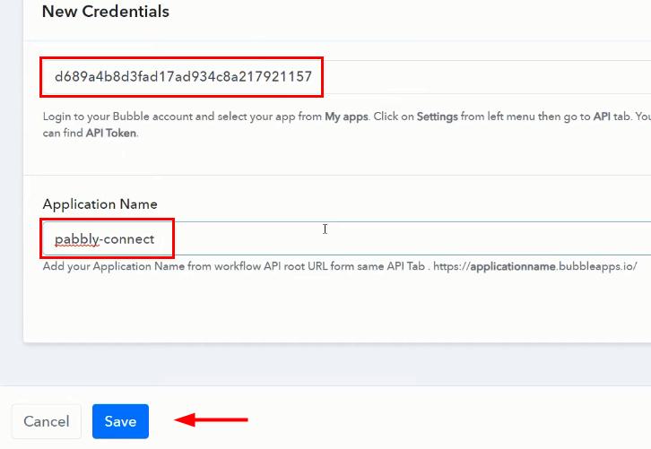 Paste API Token for Google Sheets to Bubble Integration