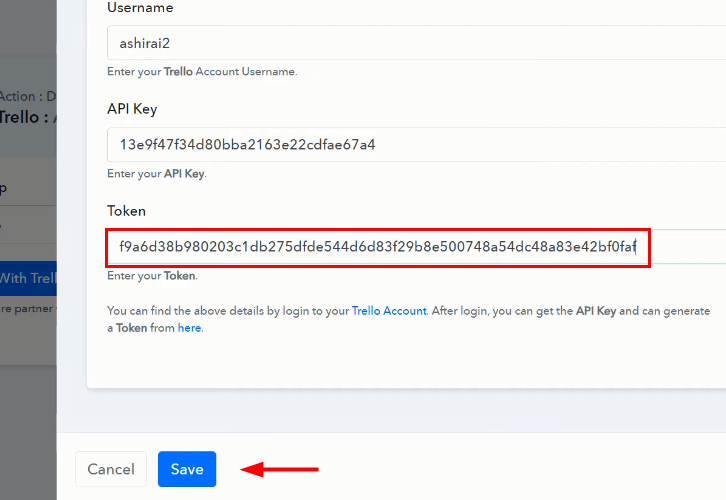 Paste the Keys and Token