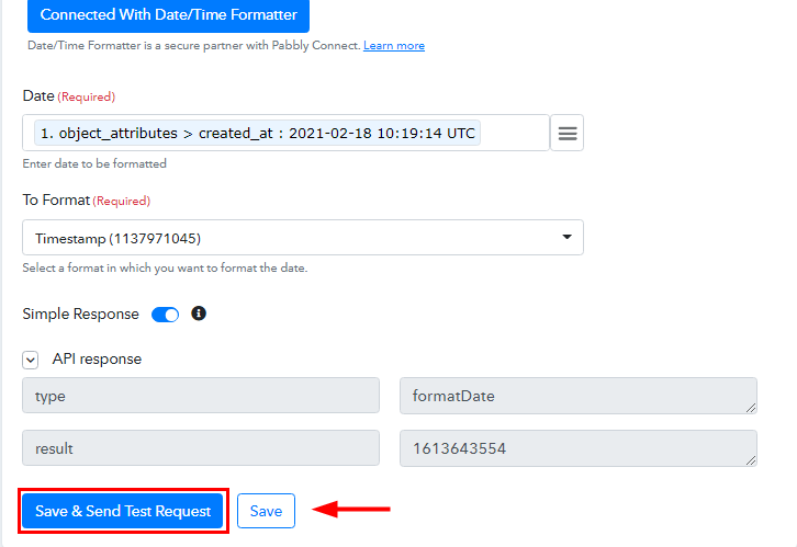 Save and Send Test Request for GitLab to ClickUp Integrations