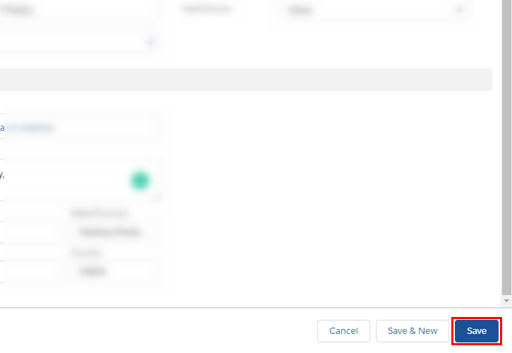 Save the Lead Details for Salesforce to MailChimp Integration