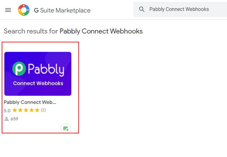 Search Pabbly Connect Webhook