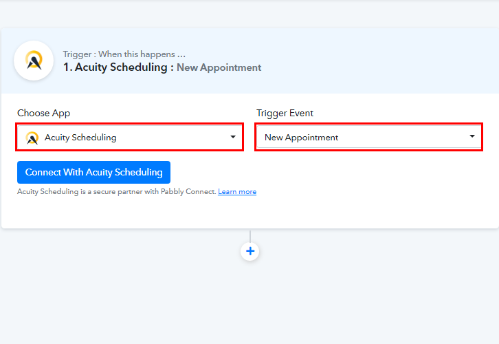 Select Acuity Scheduling for Acuity Scheduling to ClickUp Integrations