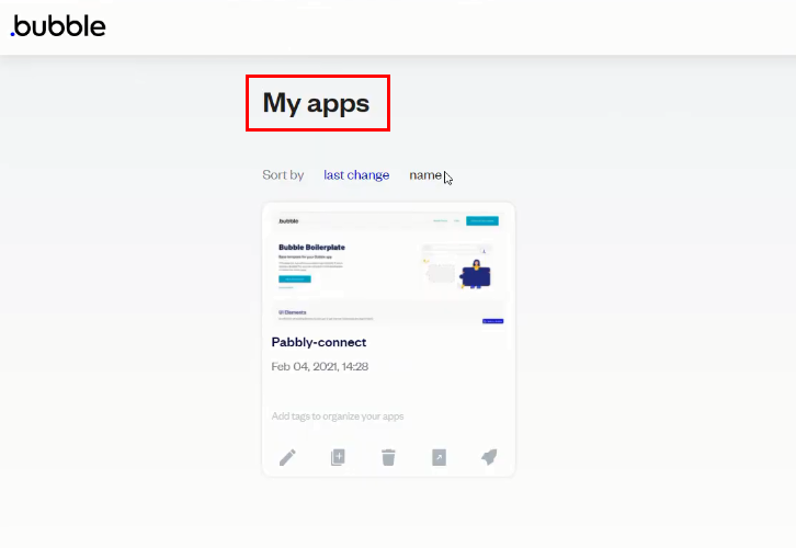 Select an App for Google Sheets to Bubble Integration