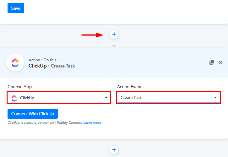 Select ClickUp for Google Calendar to ClickUp Integration
