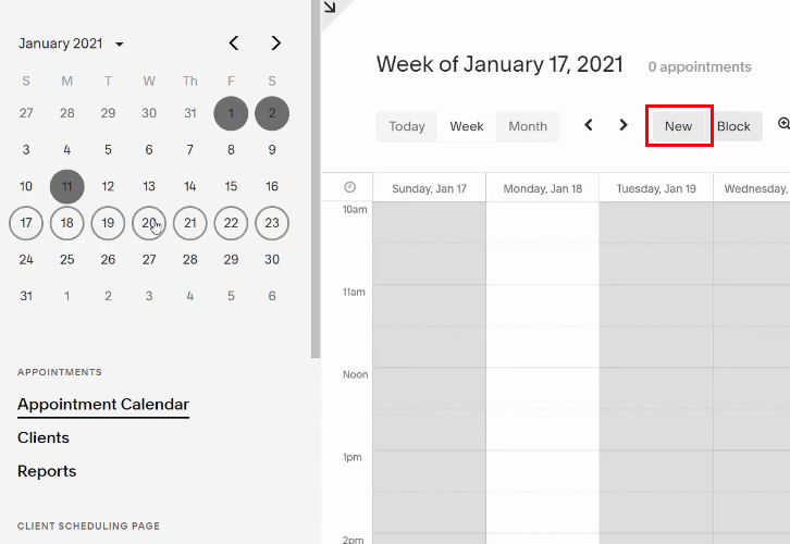 Select Date in Acuity Scheduling