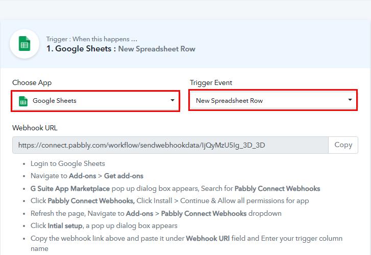 Select Google Sheets for Google Sheets to Bubble Integration