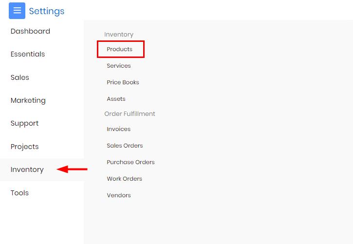 Select Product Option