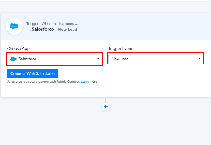 Select Salesforce for Salesforce to MailChimp Integration