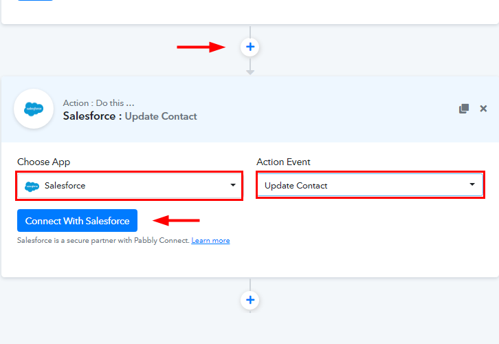 Select Salesforce Update Contact for WooCommerce to Salesforce Integration