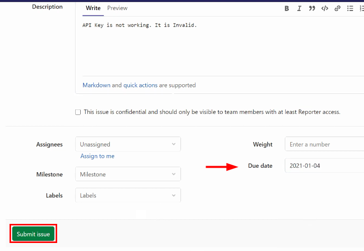 Submit Issue for GitLab to ClickUp Integrations