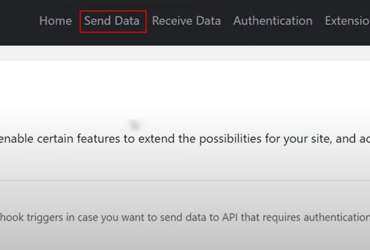Click on Send Data Option