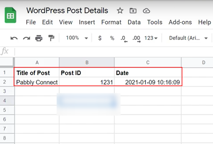 Check Response in Google Sheets