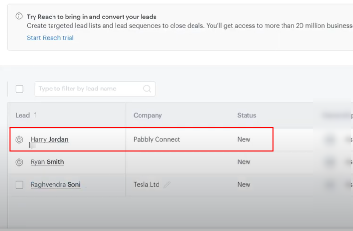Check Response in Zendesk Sell Dashboard