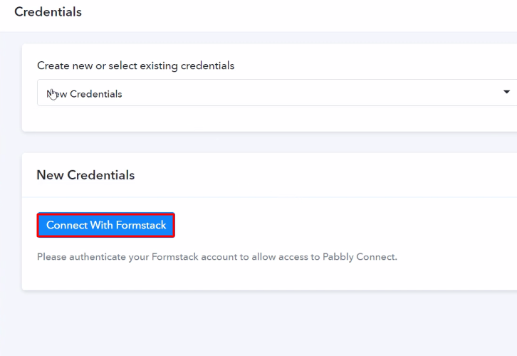 Authorize Application Formstack