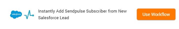Clone Template Salesforce Lead to SendPulse