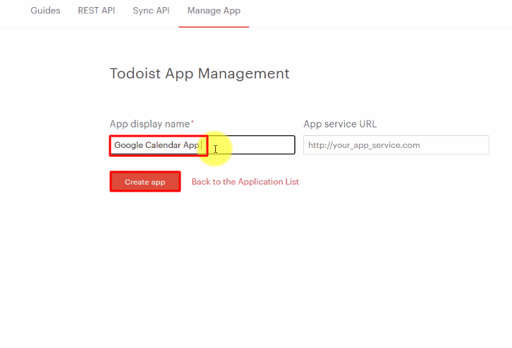 Name the App Todoist