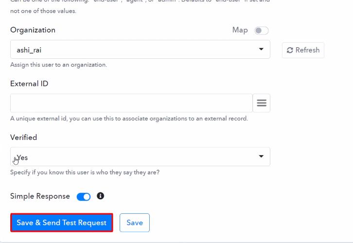 Send Test Request