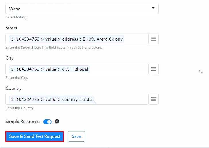 Send Test Request Salesforce