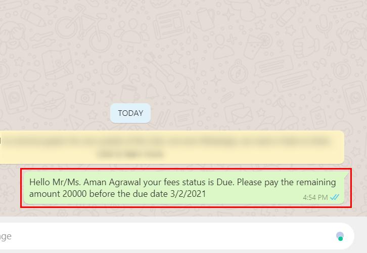 Check Response for Google Sheets to WhatsApp Integration