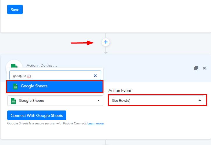 Select Google Sheets for Google Sheets to WhatsApp Integration