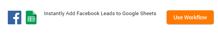 Add Facebook Leads to Google Sheets