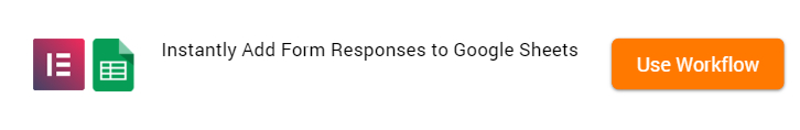 Add Form Responses to Google Sheets