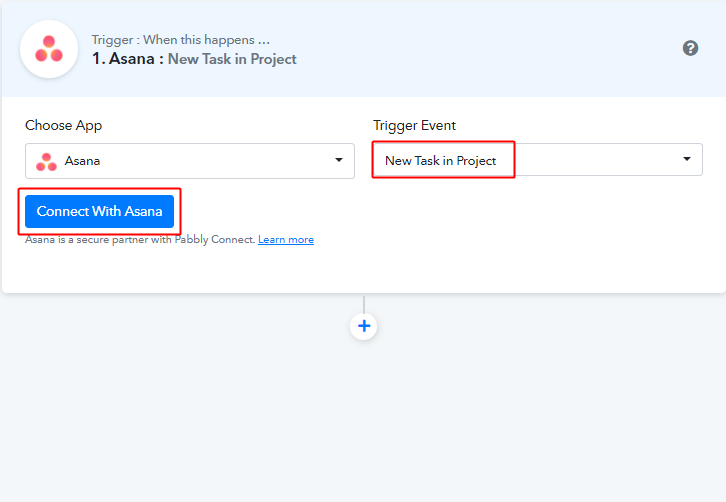 Connect with Asana for Asana to Google Sheets