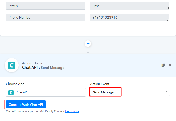 Connect with Chat API for Google Sheets to WhatsApp Integration