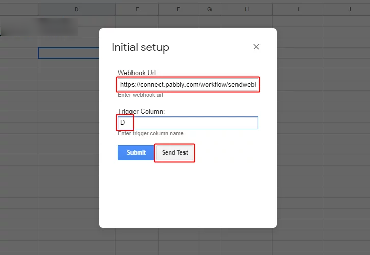 Test Trigger for Google Sheets to Gmail Integration