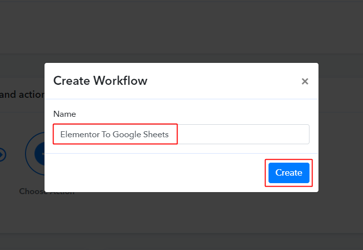 Workflow for Elementor to Google Sheets